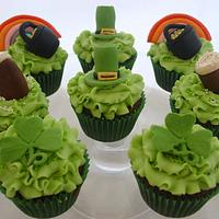 St Patrick's day cupcakes - Guinness Chocolate with Baileys buttercream