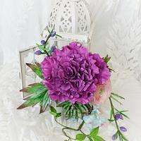 Plum peony bouquet