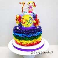 Lalaloopsy Rainbow cake