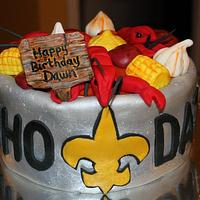 Who Dat Crawfish Boil Cake by Covered In Sugar