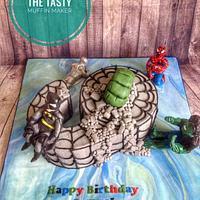 Childrens number marvel cake