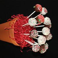 Christmas Cake pop bouquet