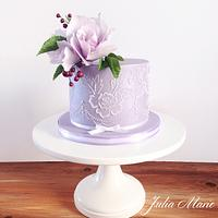 Brush Embroidery Lilac Cake