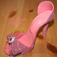 Pink and sparkly heels