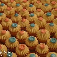 Mini Vanilla Bean Baby Shower Cupcakes