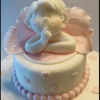 Christening cake baby girl