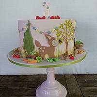 Pepper's First Birthday Woodland Cake