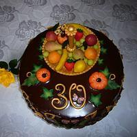 Chocolate, marzipan cake by Bożena