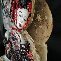 Japan an Internacional cake collaboration (Gheisa cookie) by Gele's Cookies
