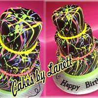 Paint Splatter Cake by lanett