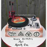 Led Zeppelin cake for my ROCKer