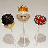 Queen's Diamond Jubilee Cake Pops