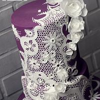 Royal icing lace