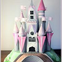Disney Castle Christening Cake