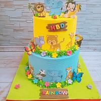 Animals cake by Jojo candy