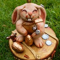 Fondant Cake Topper Sweet  Easter Collaboration - steampunk bunny