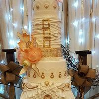 Modern and Romantic Wedding Cake