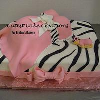 Zebra Belly cake by Evelyn Vargas