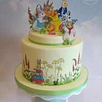 Little Grey Rabbit Cake