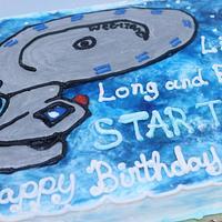 Star Trek cake in buttercream