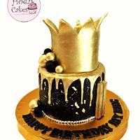 Gold Crown Drip Cake👑✨