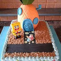 sponge bob birthday cake by ronya's bella torta