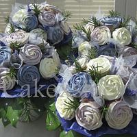Hues of Purple Cupcake Bouquets by Cakexstacy