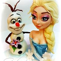 Friends... Elsa and Olaf