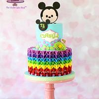 TSUM TSUM MICKEY with RAINBOW V-Petal Ruffles