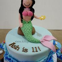 Ruffle Waves Mermaid Cake  by Ling KittyBakes