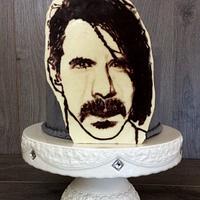 Anthony's Kiedis portrait cake