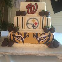 Sports Favs Groom's Cake