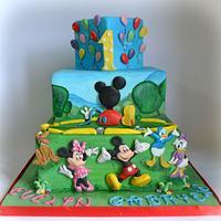 Painted Disney Cake