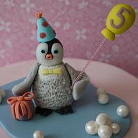 'Mumble' 5th birthday cake - June 2011