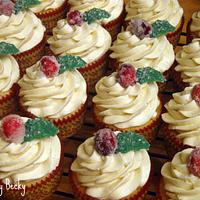 Sugared Cranberry Cupcakes by Becky Pendergraft