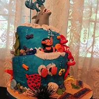 Shark/Ocean cake
