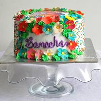 Colorful Dora the explorer theme cake !!