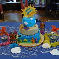 Beach themed cake by Melissa Cook