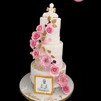 Baptism wedding cake