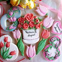 Decorated cookies for Woman's Day