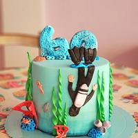 Scuba diving mini cake!