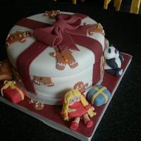 Carrot cake Christmas cake