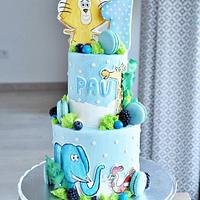 Baby jungle cake