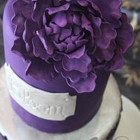 Damask peony cake