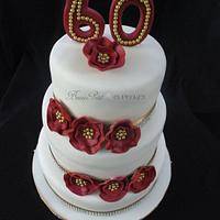 """""""60th"""" Birthday Cake by Beau Petit Cupcakes (Candace Chand)"""