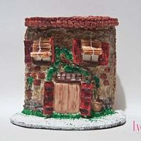 Rustic cookie house