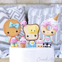 Donut, Cookie and Toast Cake Toppers