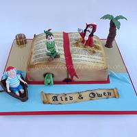 Peter Pan Book Cake