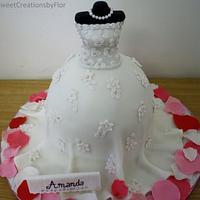 Bridal Shower Cake by SweetCreationsbyFlor