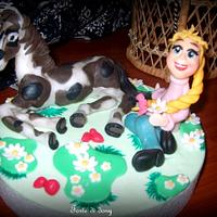 Birthday cake horse